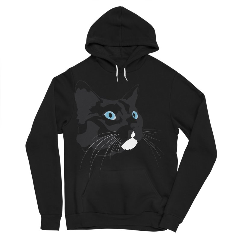 Black Cat Men's Sponge Fleece Pullover Hoody by Dean Cole Design