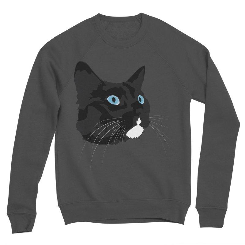 Black Cat Women's Sponge Fleece Sweatshirt by Dean Cole Design