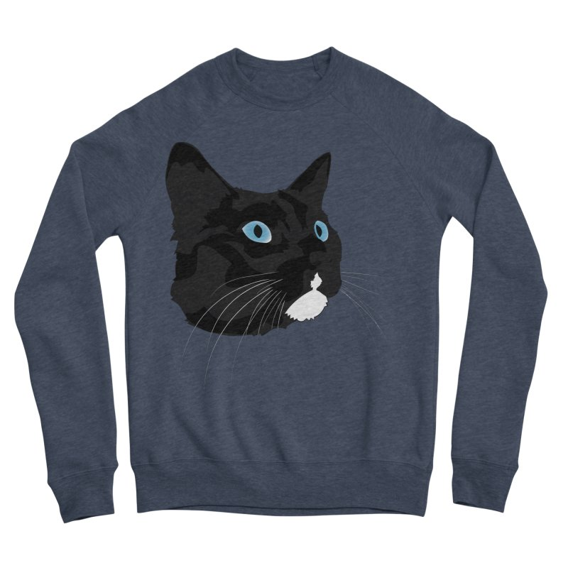 Black Cat Men's Sponge Fleece Sweatshirt by Dean Cole Design
