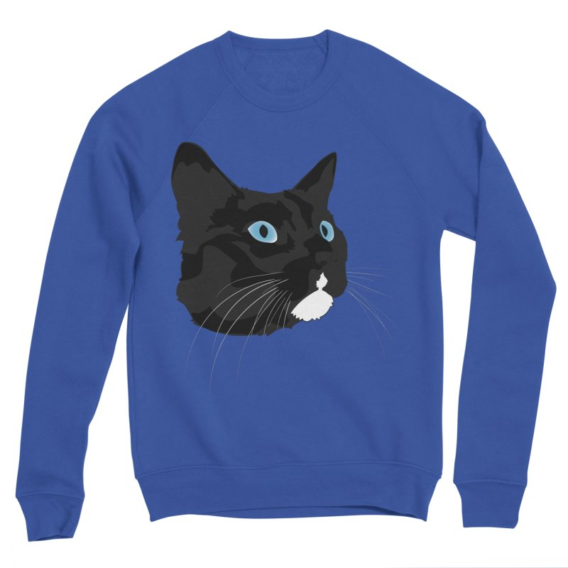 Black Cat Women's Sponge Fleece Sweatshirt by Dean Cole Design