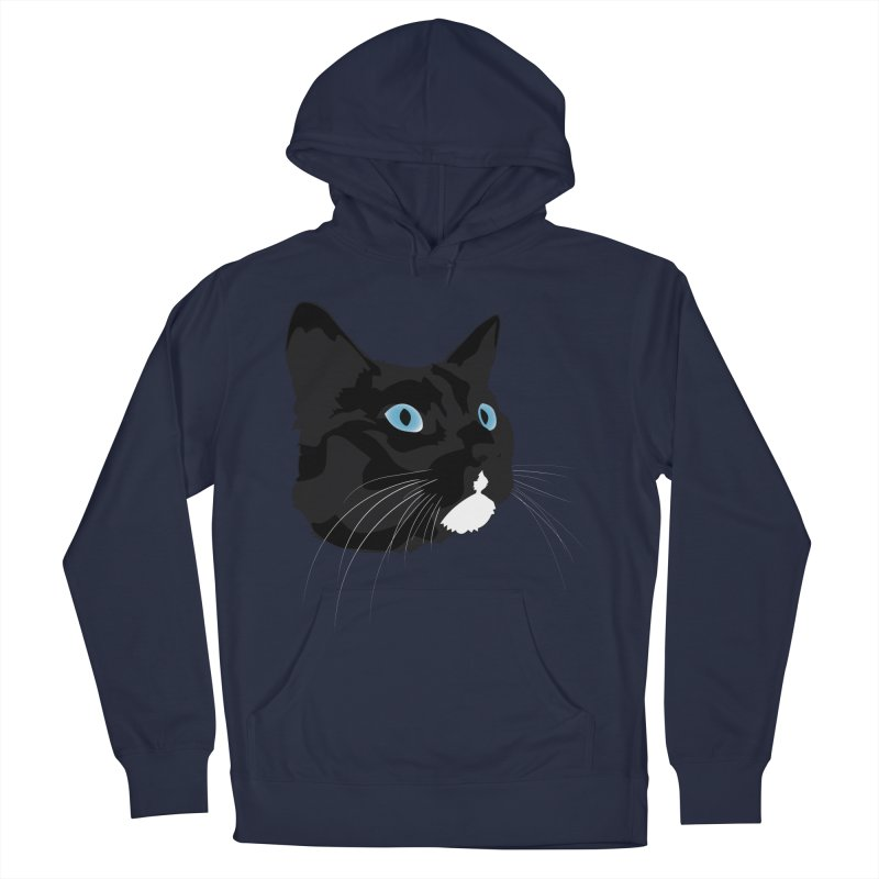 Black Cat Men's Pullover Hoody by Dean Cole Design