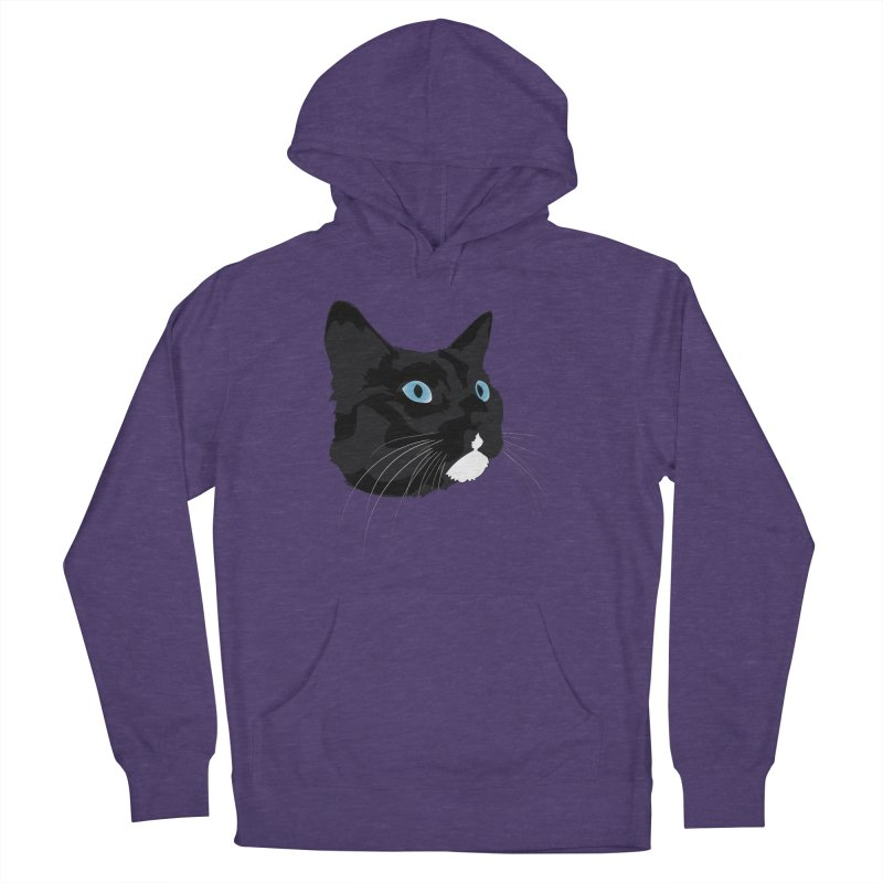 Black Cat Men's French Terry Pullover Hoody by Dean Cole Design