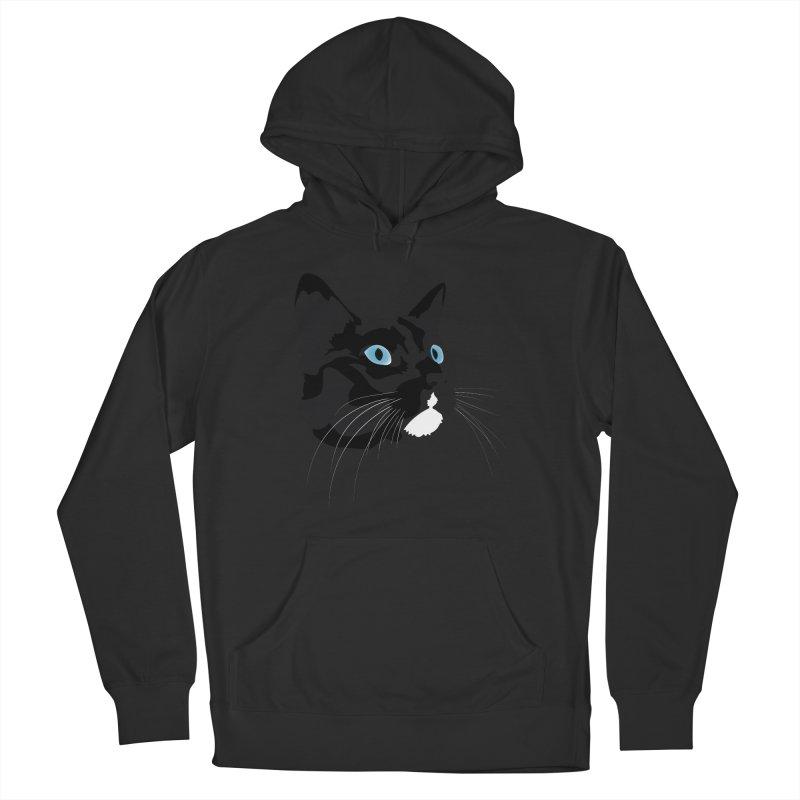 Black Cat Men's Pullover Hoody by Dean Cole Design