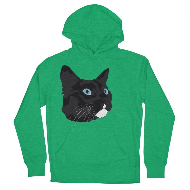 Black Cat Women's French Terry Pullover Hoody by Dean Cole Design