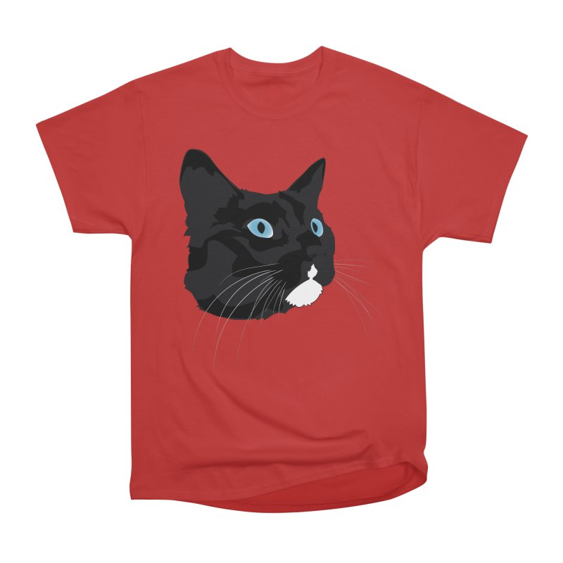 Black Cat Men's Heavyweight T-Shirt by Dean Cole Design