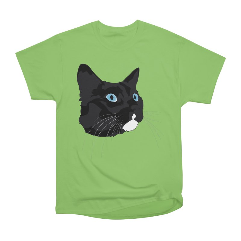 Black Cat Women's Heavyweight Unisex T-Shirt by Dean Cole Design