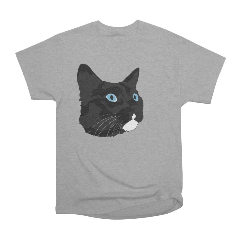 Black Cat Women's Heavyweight Unisex T-Shirt by Dean Cole Design