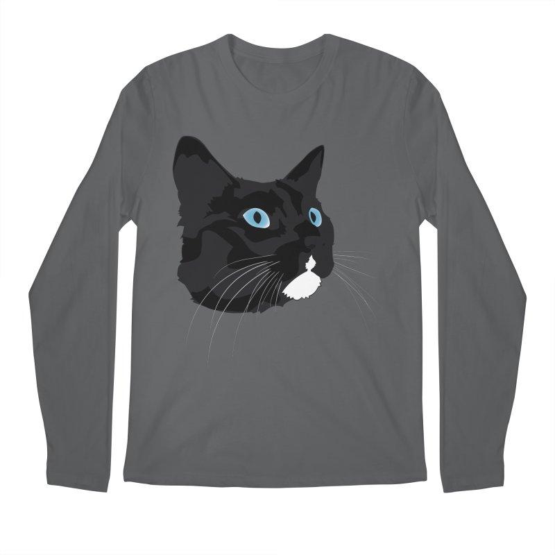 Black Cat Men's Longsleeve T-Shirt by Dean Cole Design