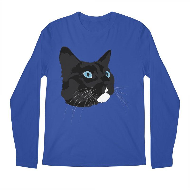 Black Cat Men's Regular Longsleeve T-Shirt by Dean Cole Design