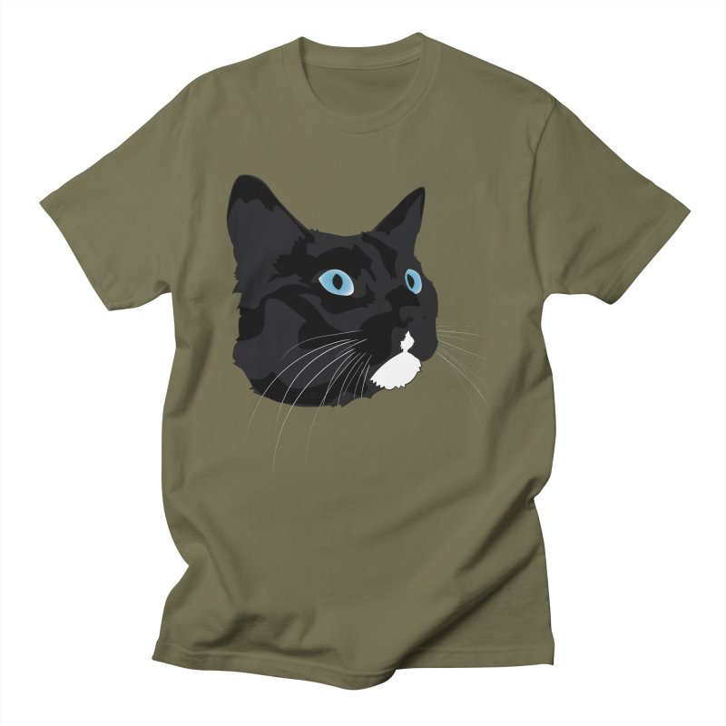 Black Cat Men's Regular T-Shirt by Dean Cole Design