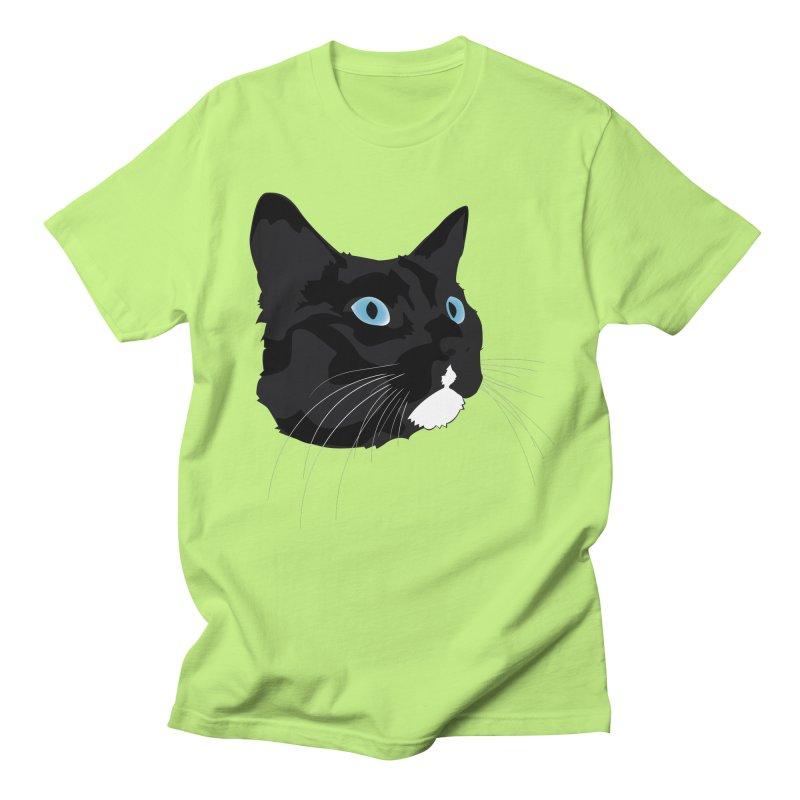 Black Cat Men's Regular T-Shirt by Dean Cole Design