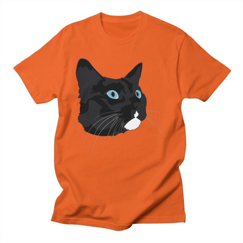Black Cat Women's Regular Unisex T-Shirt by Dean Cole Design