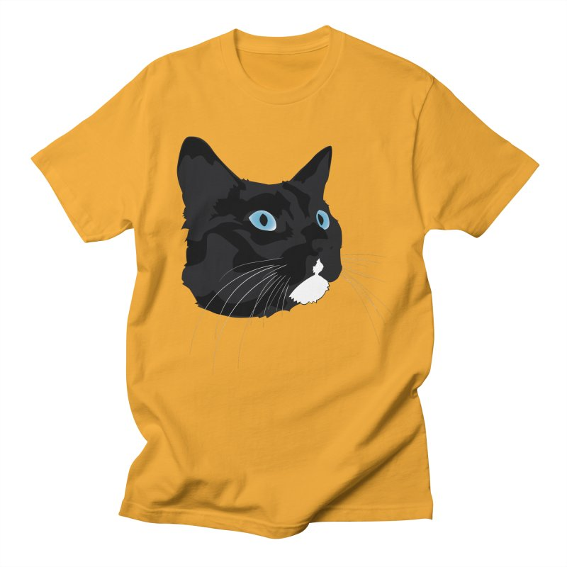 Black Cat Women's Regular Unisex T-Shirt by Dean Cole Design