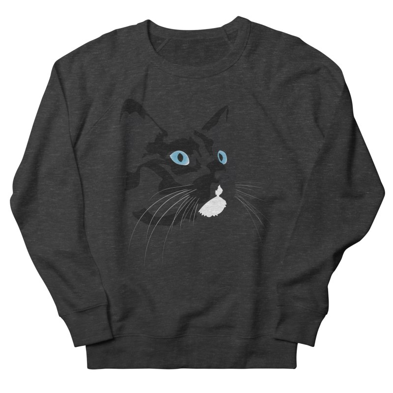Black Cat Women's French Terry Sweatshirt by Dean Cole Design