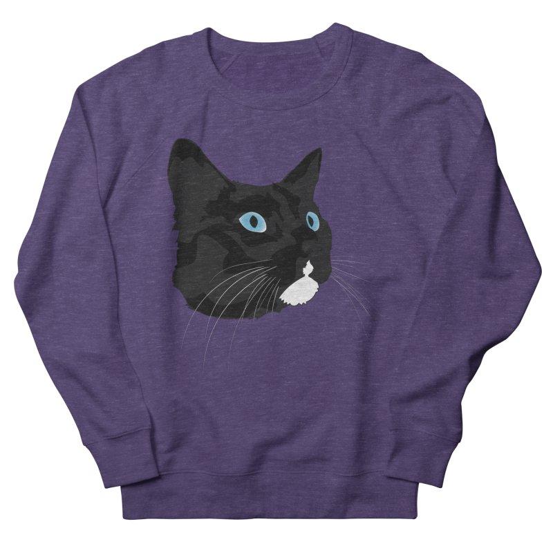 Black Cat Women's French Terry Sweatshirt by Dean Cole Design