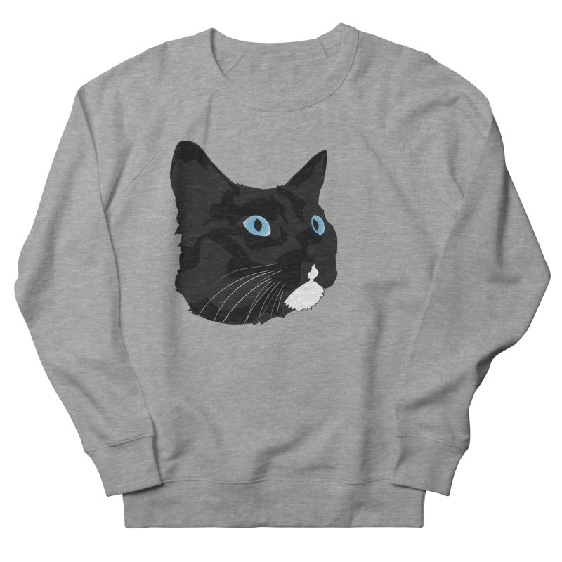 Black Cat Men's French Terry Sweatshirt by Dean Cole Design
