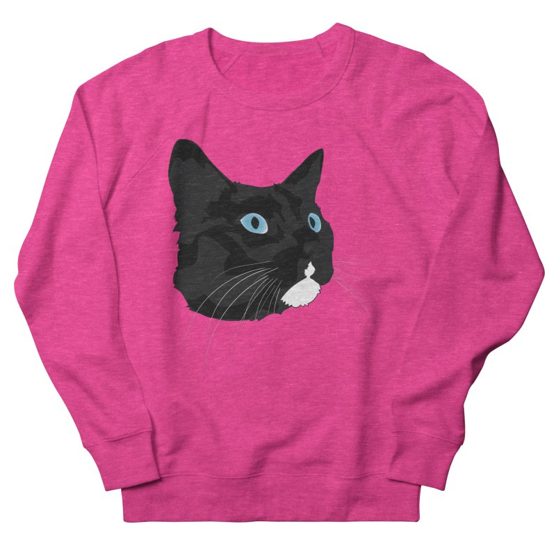 Black Cat Men's French Terry Sweatshirt by Dean Cole Design