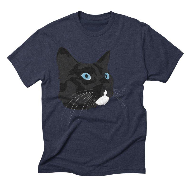 Black Cat Men's Triblend T-Shirt by Dean Cole Design