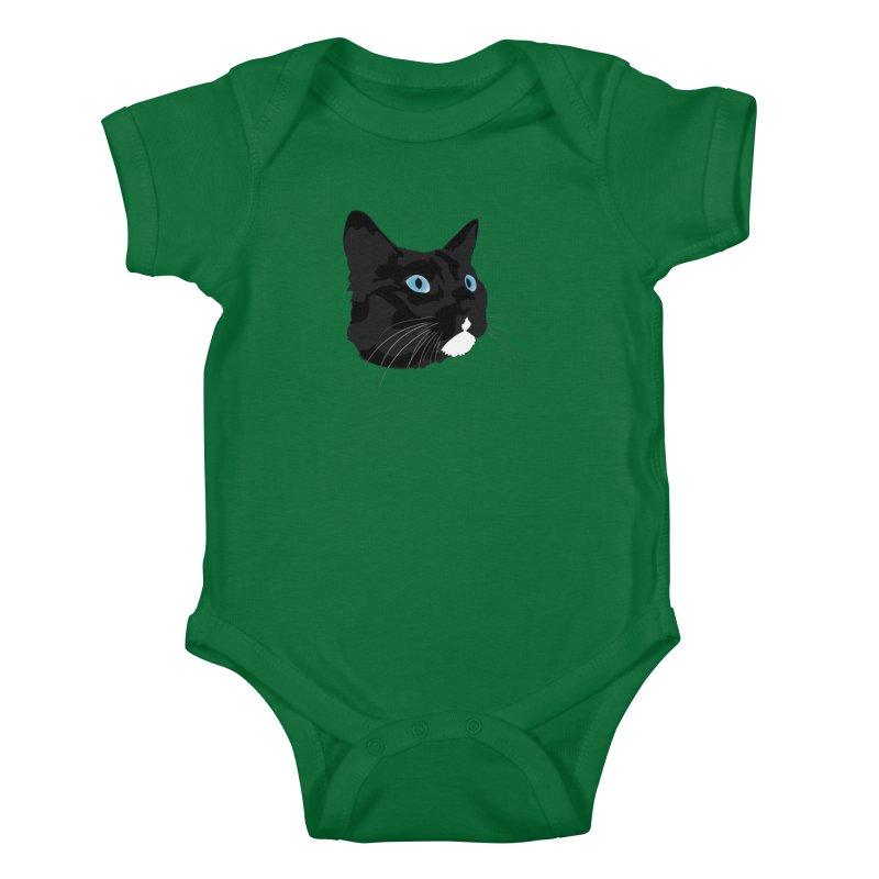 Black Cat Kids Baby Bodysuit by Dean Cole Design