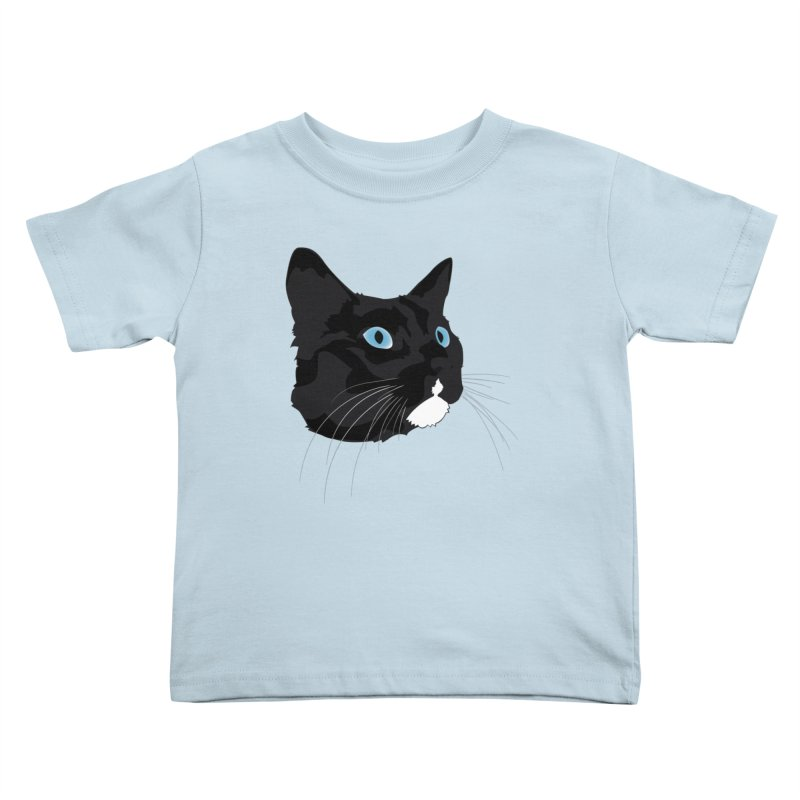 Black Cat Kids Toddler T-Shirt by Dean Cole Design