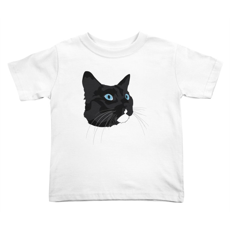 Black Cat Kids Toddler T-Shirt by Dean Cole Design