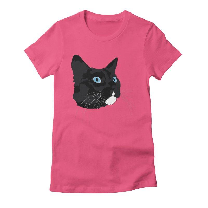 Black Cat Women's T-Shirt by Dean Cole Design