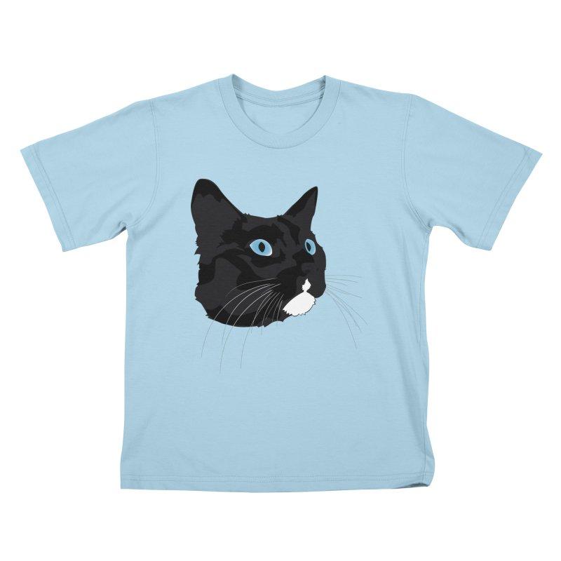 Black Cat Kids T-Shirt by Dean Cole Design