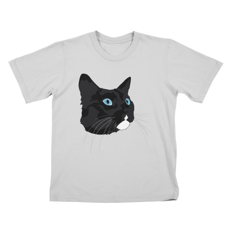 Black Cat Kids T-Shirt by Dean Cole Design