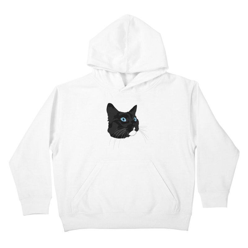 Black Cat Kids Pullover Hoody by Dean Cole Design