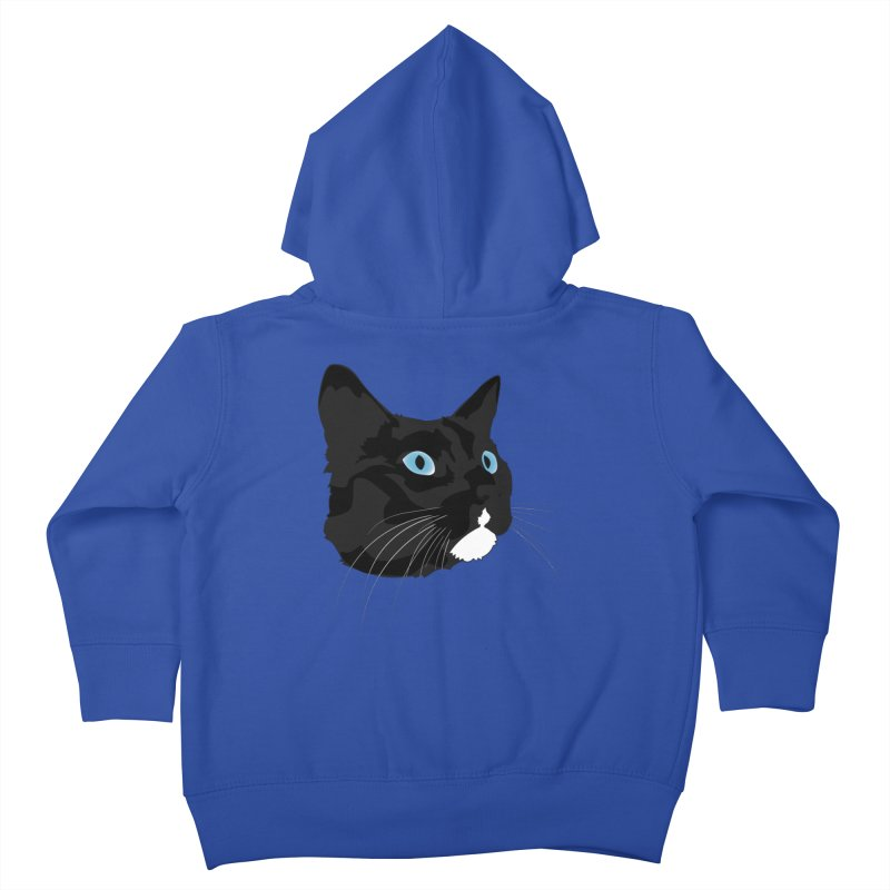 Black Cat Kids Toddler Zip-Up Hoody by Dean Cole Design