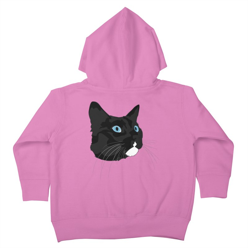 Black Cat Kids Toddler Zip-Up Hoody by Dean Cole Design