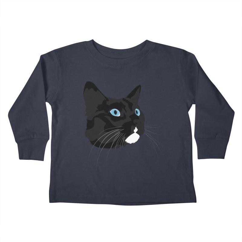 Black Cat Kids Toddler Longsleeve T-Shirt by Dean Cole Design