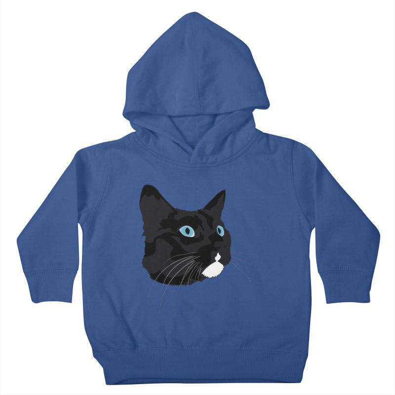 Black Cat Kids Toddler Pullover Hoody by Dean Cole Design