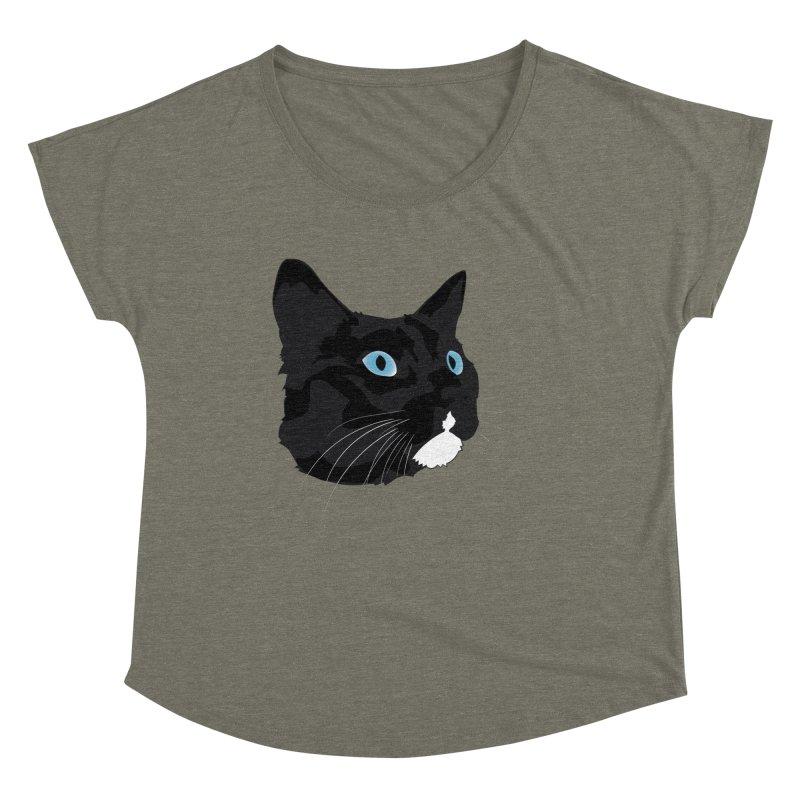 Black Cat Women's Dolman Scoop Neck by Dean Cole Design