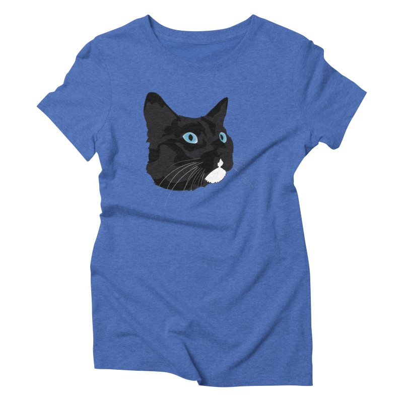 Black Cat Women's Triblend T-Shirt by Dean Cole Design
