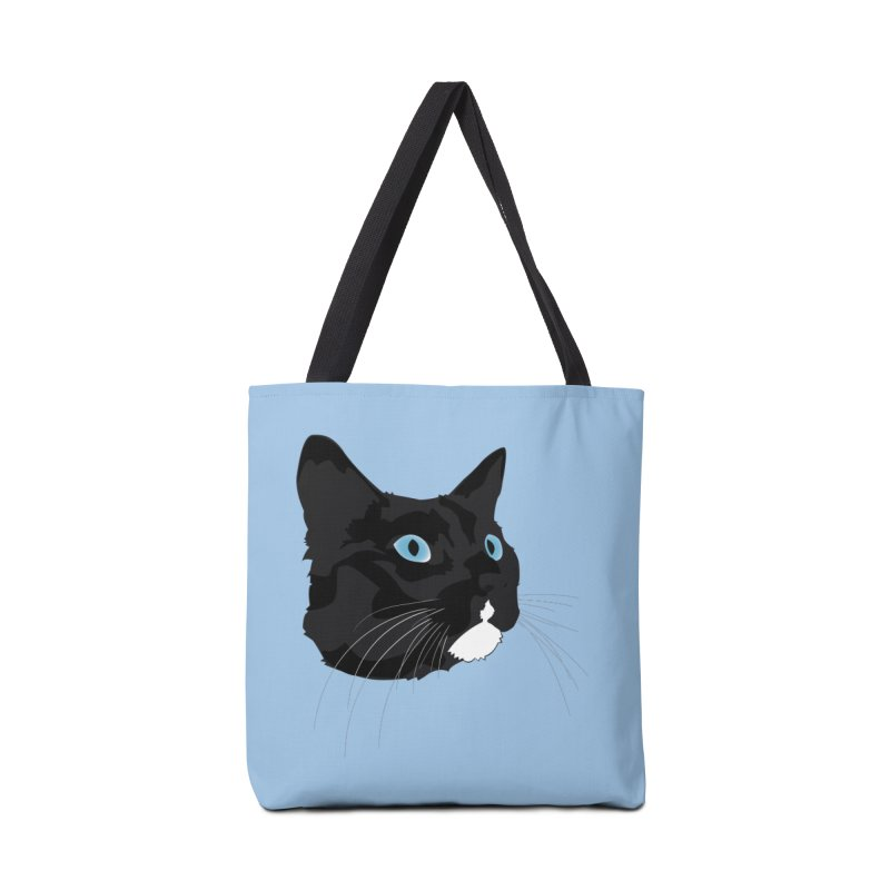 Black Cat Accessories Tote Bag Bag by Dean Cole Design
