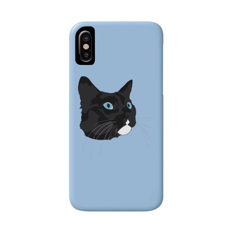 Black Cat Accessories Phone Case by Dean Cole Design