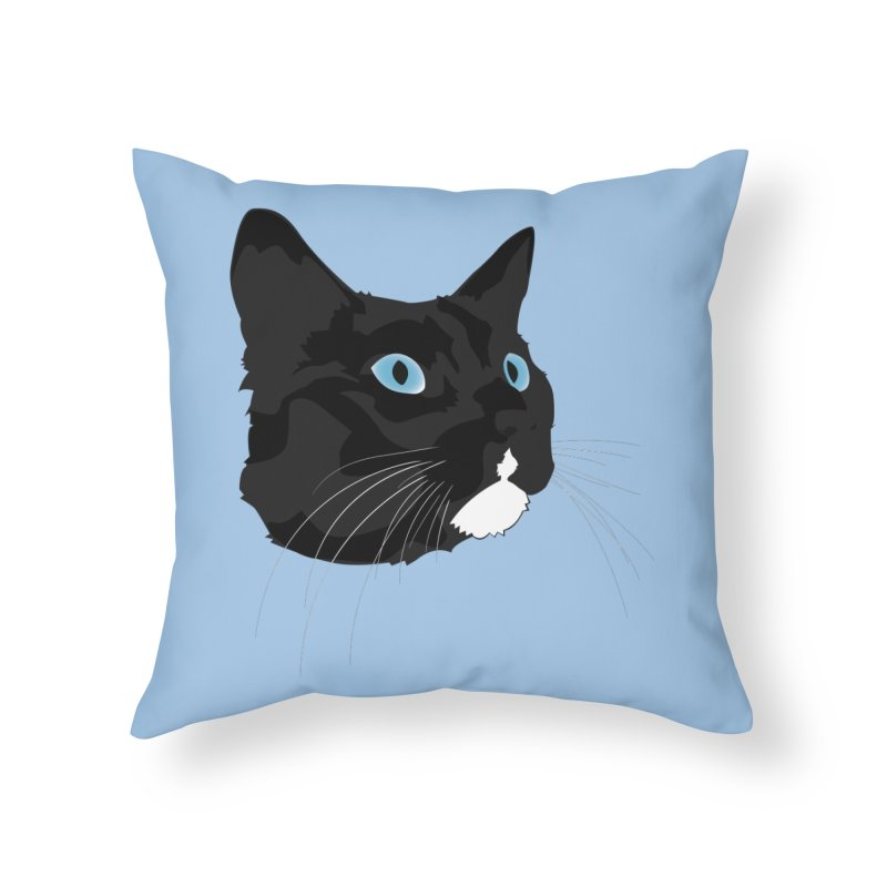 Black Cat Home Throw Pillow by Dean Cole Design