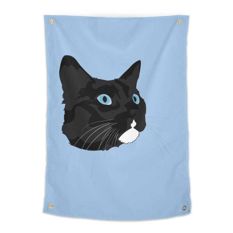 Black Cat Home Tapestry by Dean Cole Design