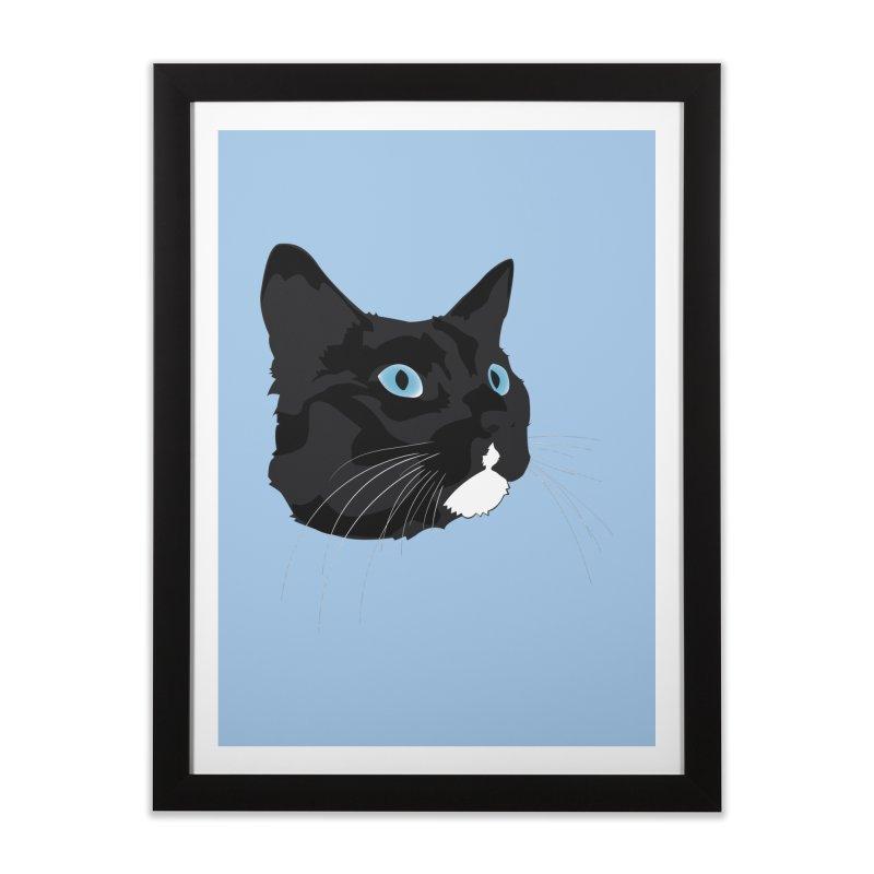 Black Cat Home Framed Fine Art Print by Dean Cole Design