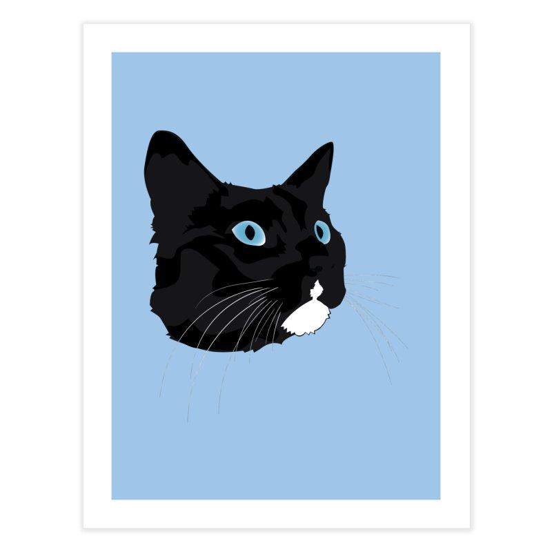 Black Cat Home Fine Art Print by Dean Cole Design