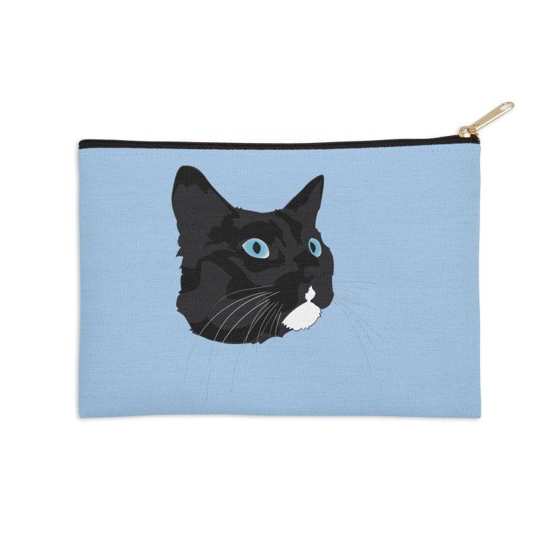 Black Cat Accessories Zip Pouch by Dean Cole Design