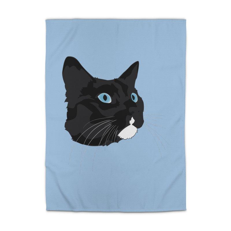Black Cat Home Rug by Dean Cole Design