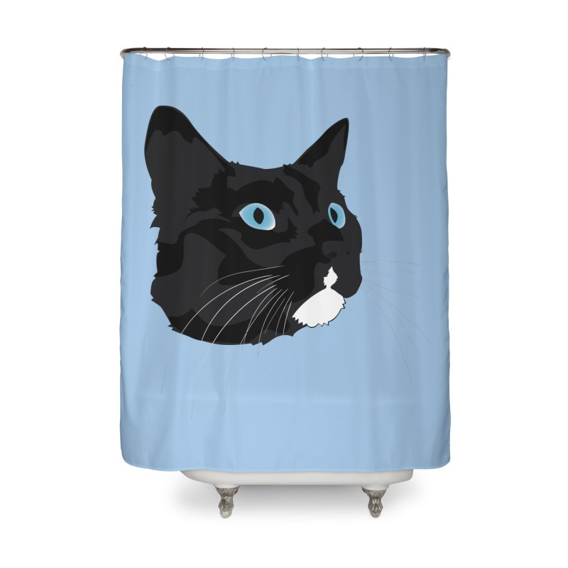 Black Cat Home Shower Curtain by Dean Cole Design