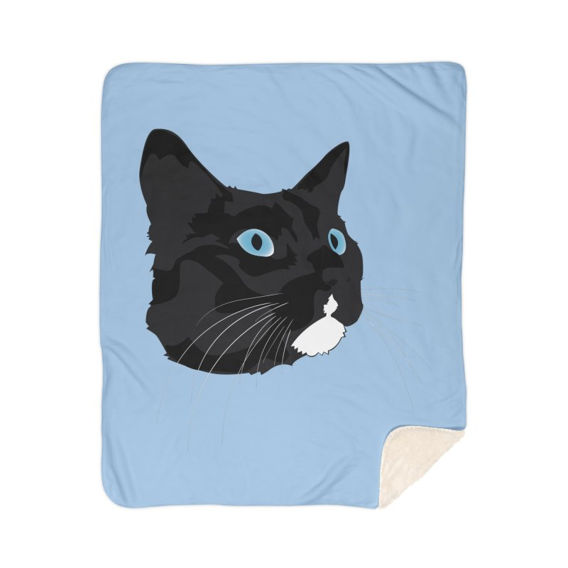 Black Cat Home Sherpa Blanket Blanket by Dean Cole Design