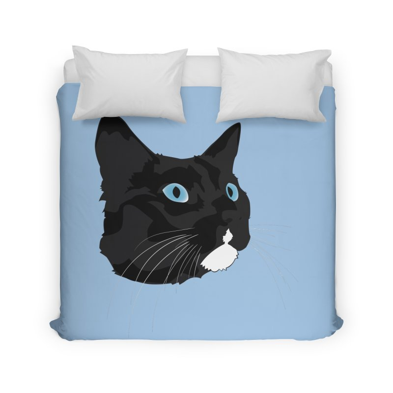 Black Cat Home Duvet by Dean Cole Design