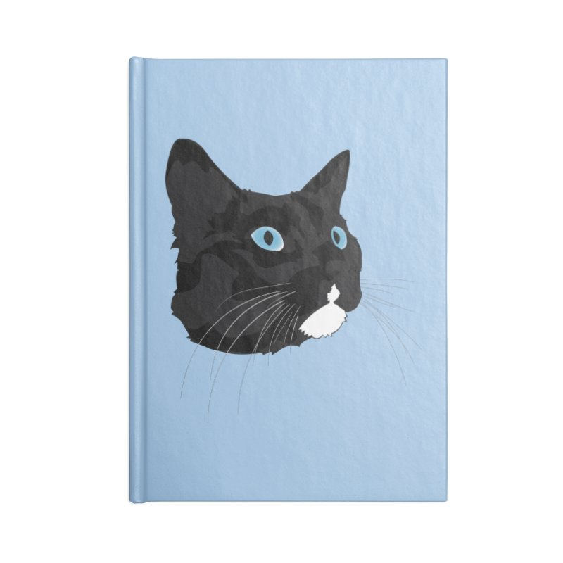 Black Cat Accessories Lined Journal Notebook by Dean Cole Design