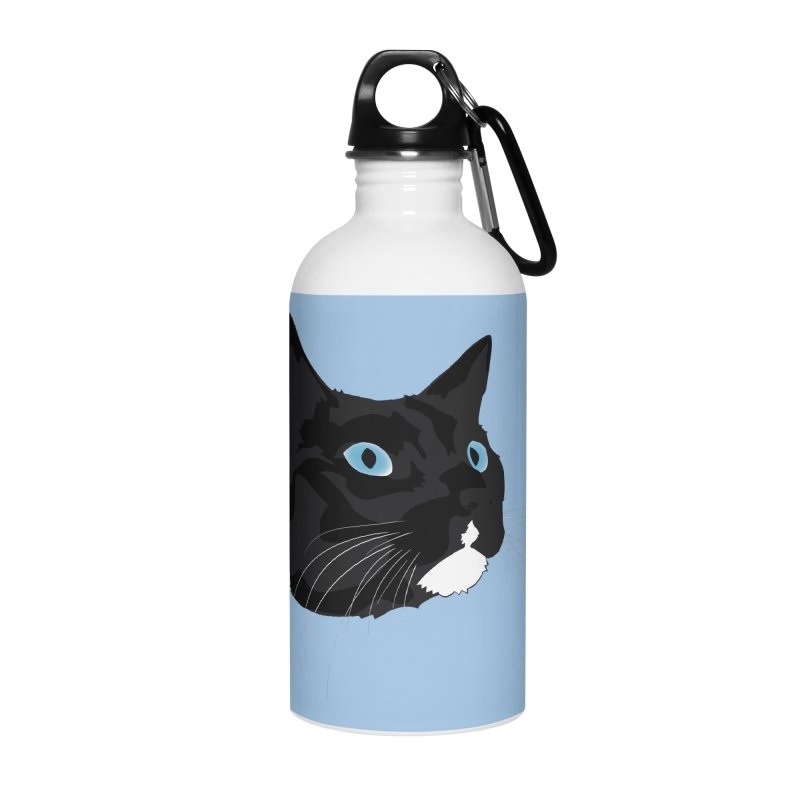 Black Cat Accessories Water Bottle by Dean Cole Design