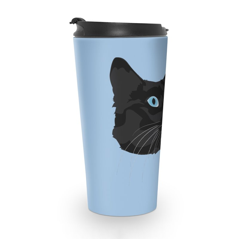 Black Cat Accessories Travel Mug by Dean Cole Design