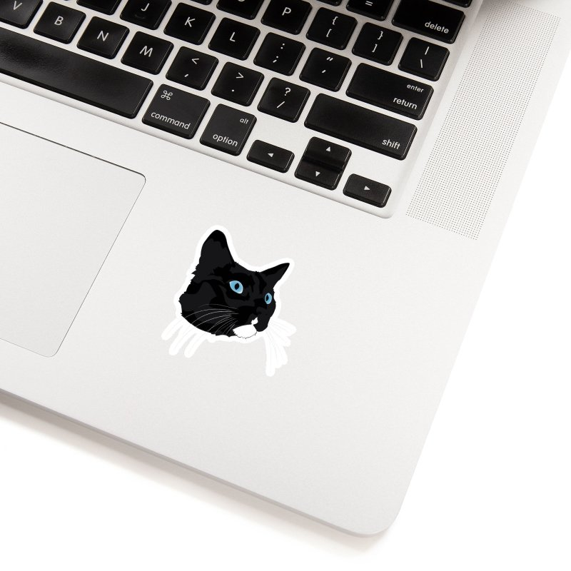 Black Cat Accessories Sticker by Dean Cole Design